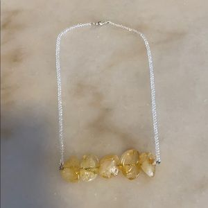 Jewelry - Real Amber Bar Stone Crystal Magnetic Necklace